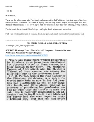 Gloria Forouzan Newspaper Research Notable Women in Pittsburgh.pdf