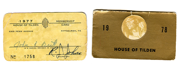 John Britt Membership Cards: Lent to the Pittsburgh Queer History Project for Lucky After Dark.